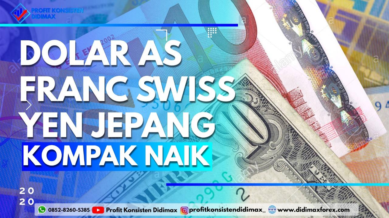 Dolar AS, Franc Swiss & Yen Kompak Kembali Naik