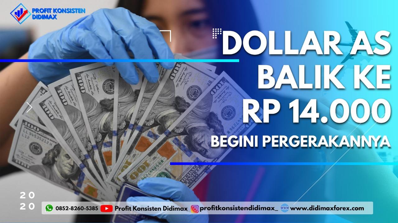 Dolar AS Balik ke Rp 14.000, Begini Pergerakannya