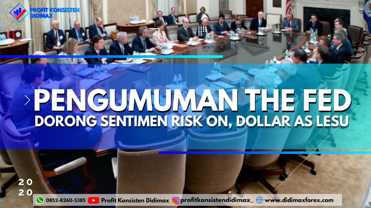 Pengumuman The Fed Dorong Sentimen Risk On, Dolar AS Lesu