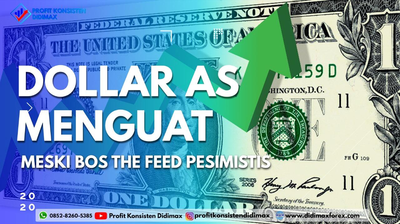 Dolar AS Menguat meski Bos The Fed Pesimistis