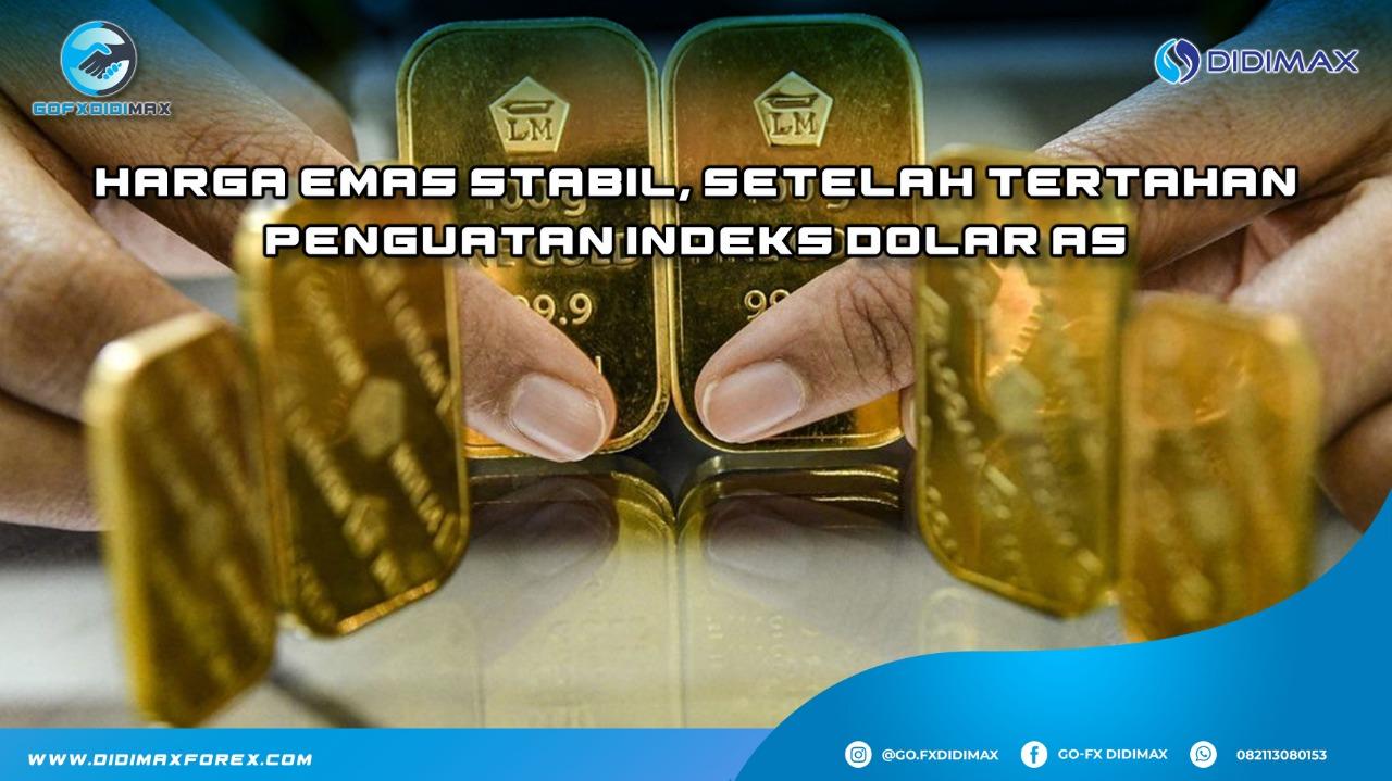 Harga emas stabil, setelah tertahan penguatan indeks dolar AS