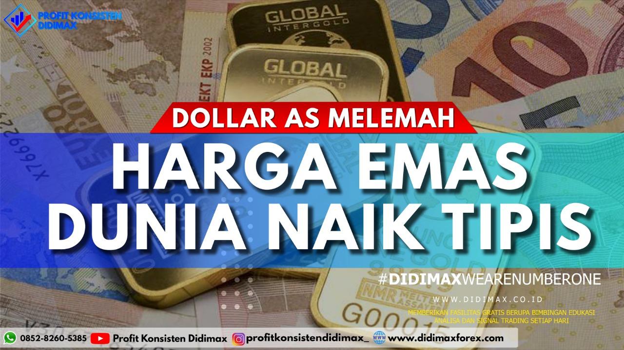 Dolar AS Melemah, Harga Emas Dunia Naik Tipis
