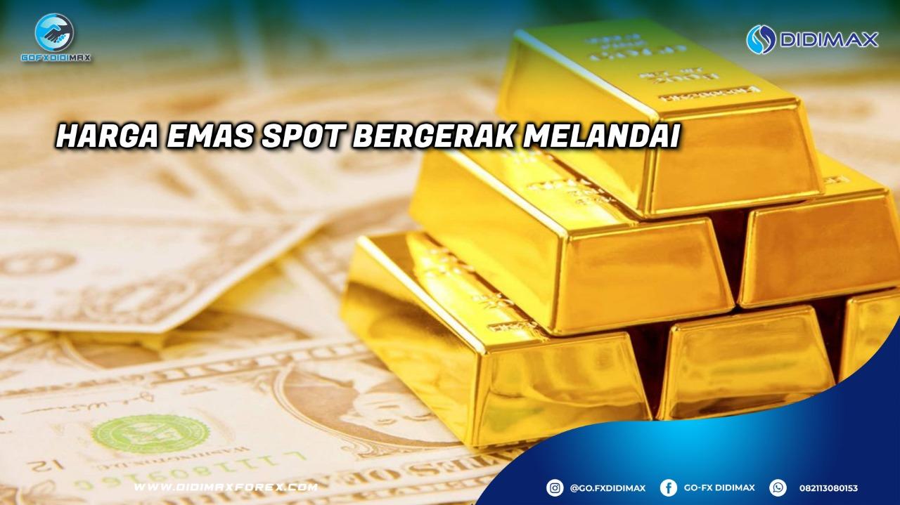 Harga emas spot bergerak melandai