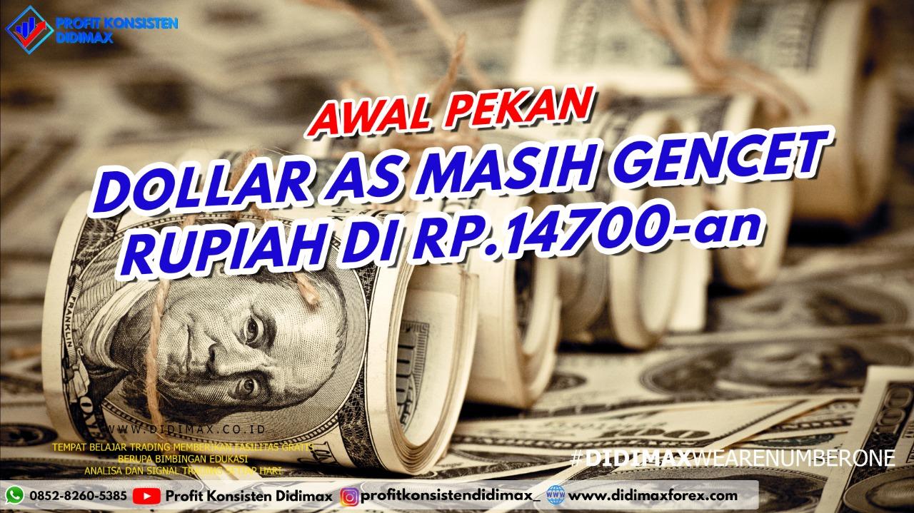 Dolar AS Masih Gencet Rupiah di Rp 14.700-an