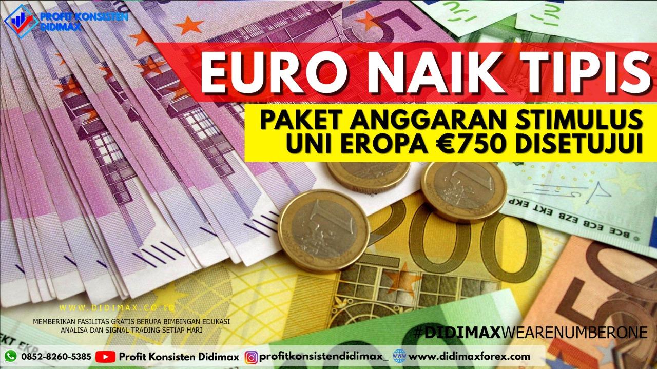 Euro Naik Tipis, Paket Anggaran Stimulus Uni Eropa €750 M Disetujui