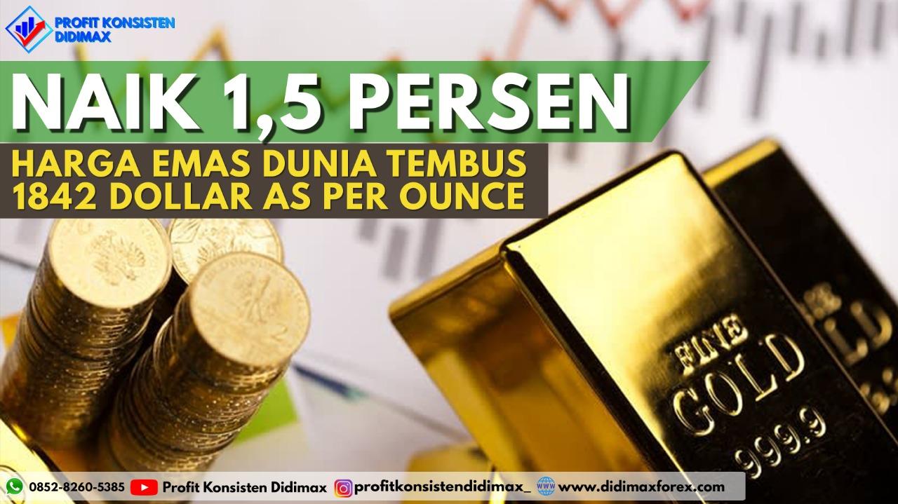 Harga Emas Dunia Tembus 1.842 Dolar AS per Ounce
