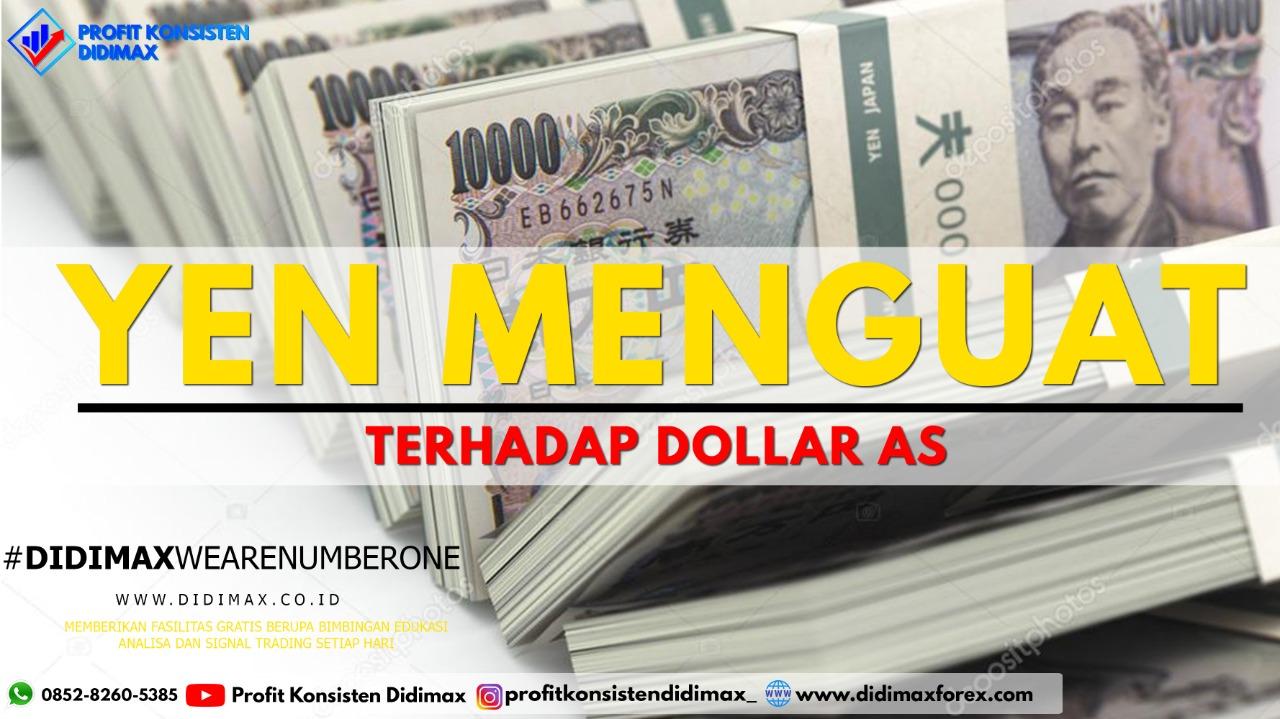 Yen Menguat terhadap Dolar AS