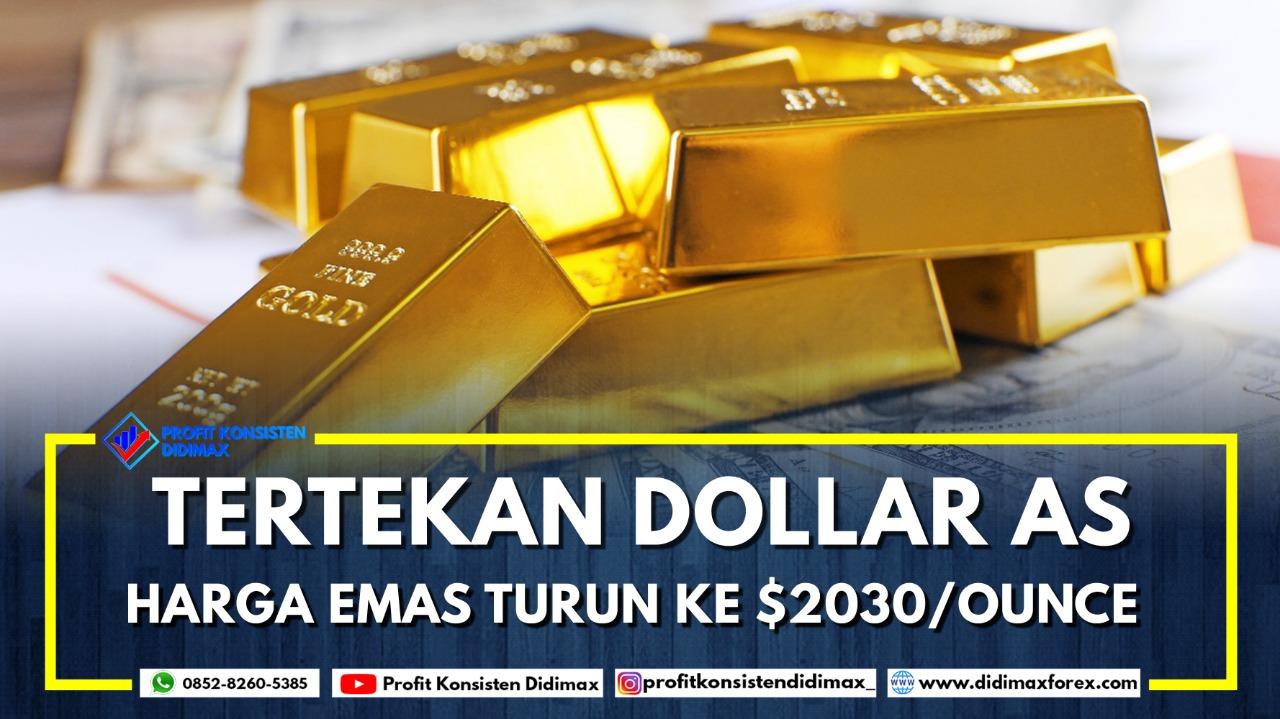 Tertekan Dolar AS, Harga Emas Turun ke USD2.030/Ounce