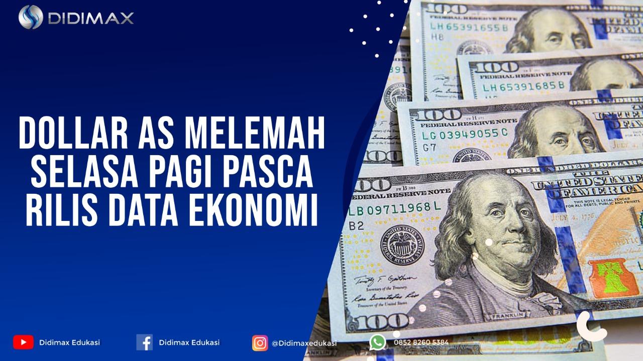 Dolar AS Melemah Selasa Pagi Pasca Rilis Data Ekonomi