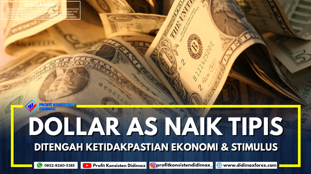 Dolar AS Naik Tipis Ditengah Ketidakpastian Ekonomi & Stimulus