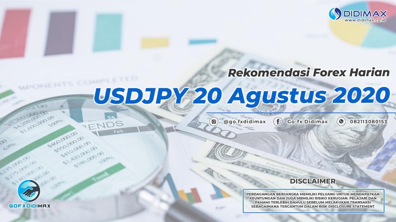 Rekomendasi Forex Harian USDJPY 20 Agustus 2020