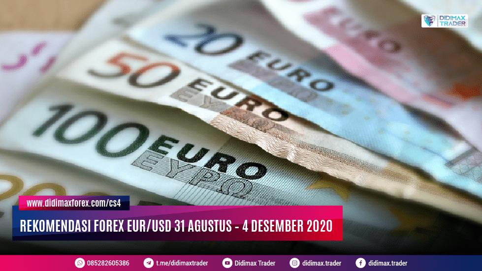 Rekomendasi Forex EUR/USD 31 Agustus – 4 Desember 2020