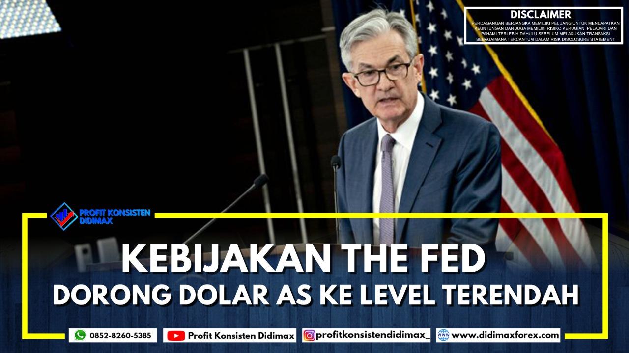 Kebijakan The Fed Dorong Dolar AS ke Level Terendah