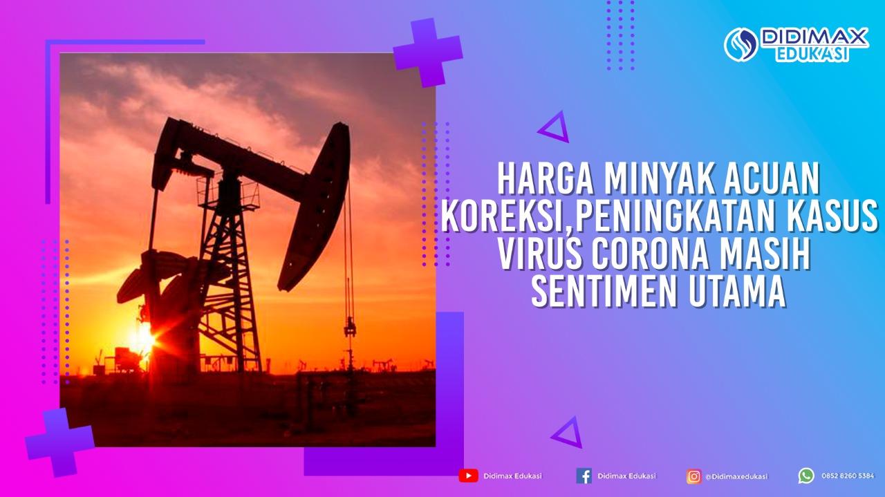 Harga minyak acuan koreksi, peningkatan kasus virus corona masih sentimen utama